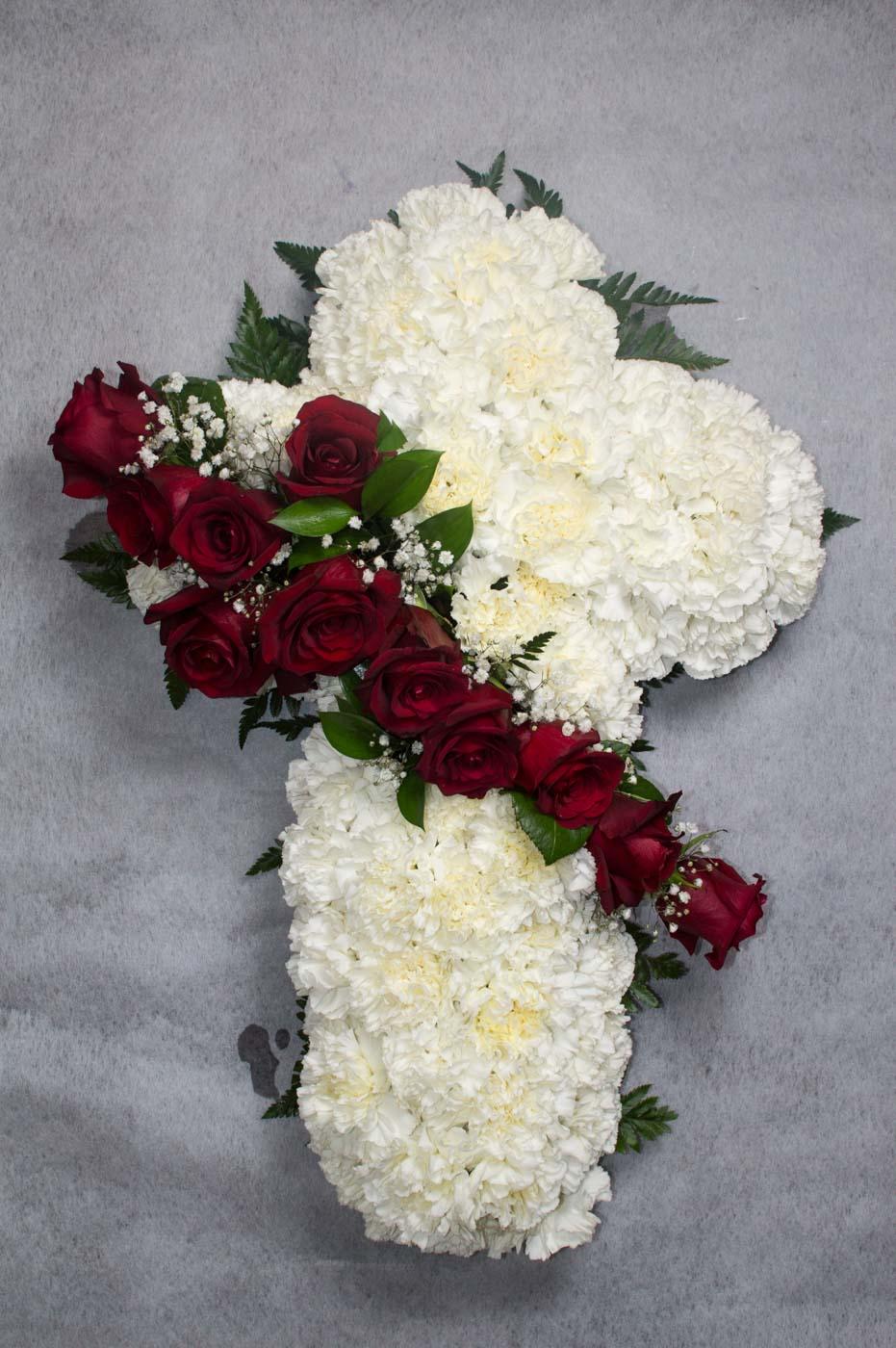 Cruz de flores - Funeraria La Paz Verín