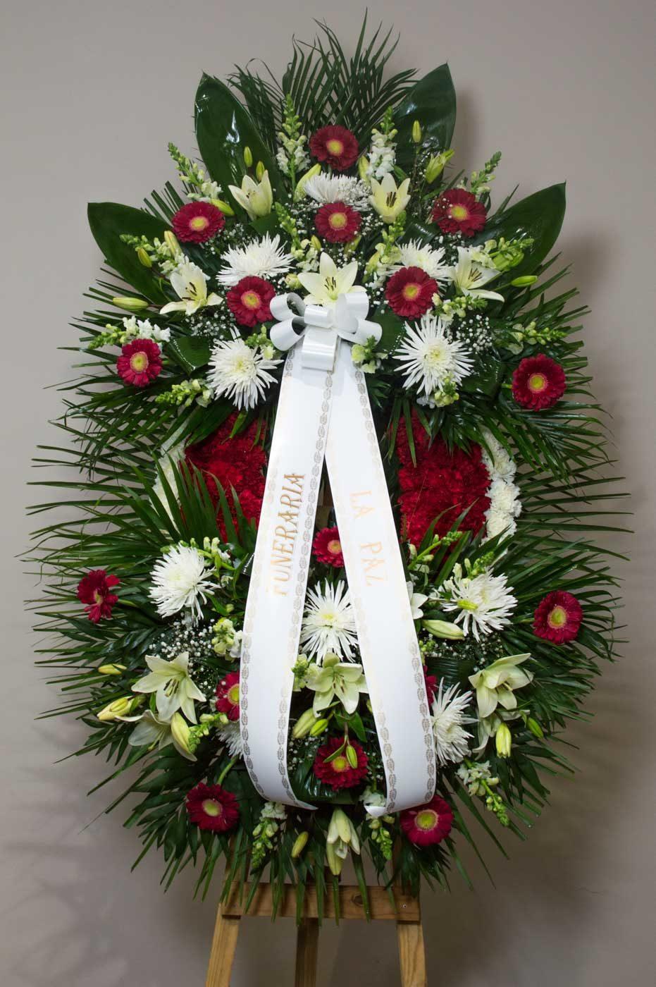Corona 2 cabezales de flores variadas - Funeraria La Paz Verín
